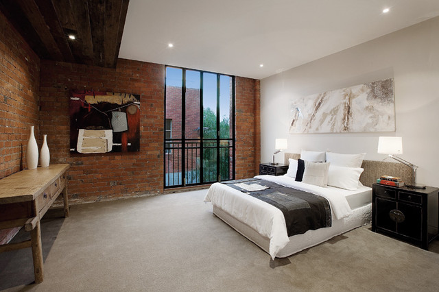 Richmond Warehouse Conversion industrial-bedroom
