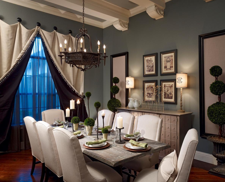 Romantic Mediterranean Dining Room Brings the Drama