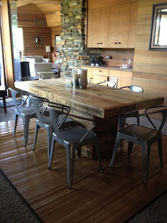 rustic dining table made from reclaimed wood - Rustic Dining Set