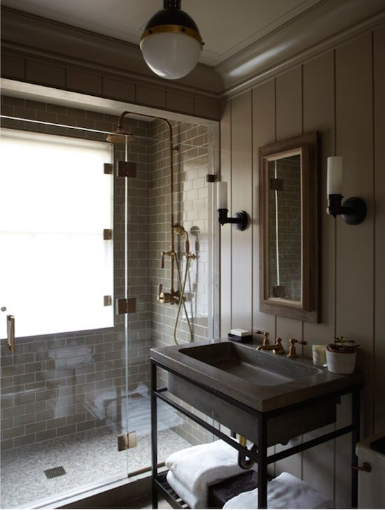 Striking Industrial Bathroom Designs