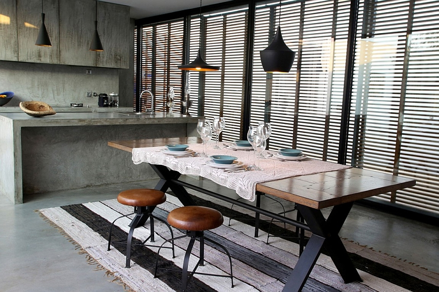 Top Dramatic Industrial Dining Room