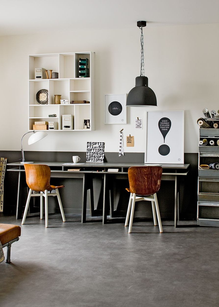 27 easy and practical industrial home office design ideas for Great home office ideas