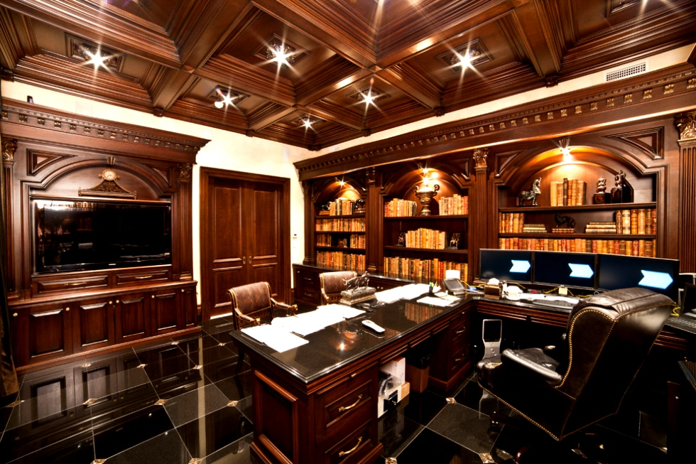 Luxury home office images about home office on pinterest home office design with luxury home - Traditional home office design ...