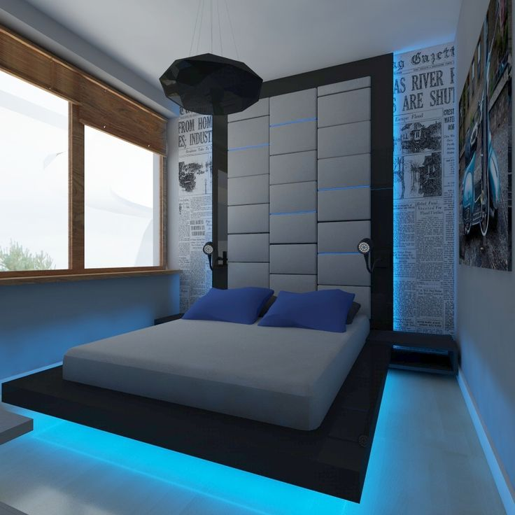 30 best bedroom ideas for men for Man u bedroom stuff