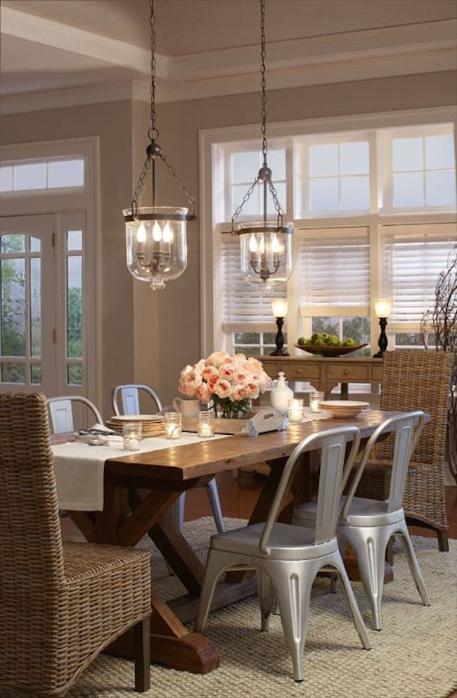 Transform your dining area with farmhouse dining for Dining table lighting ideas