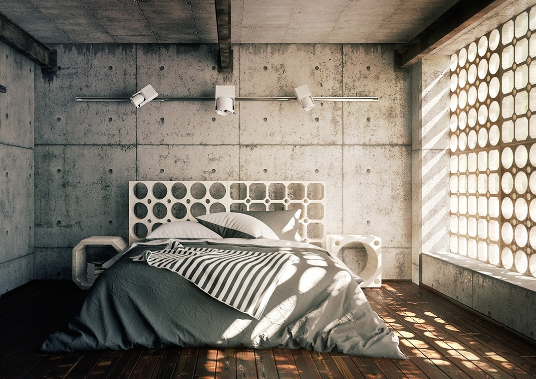 cool-cement-bedroom
