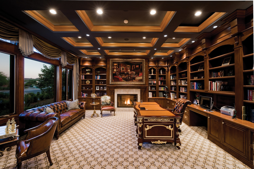 25 traditional home office designs are guaranteed to love for Custom home library design