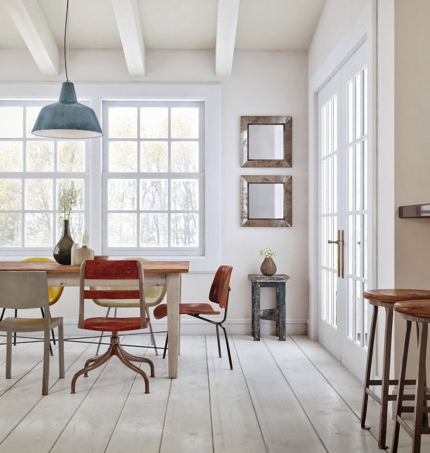 eclectic-dining-room-set
