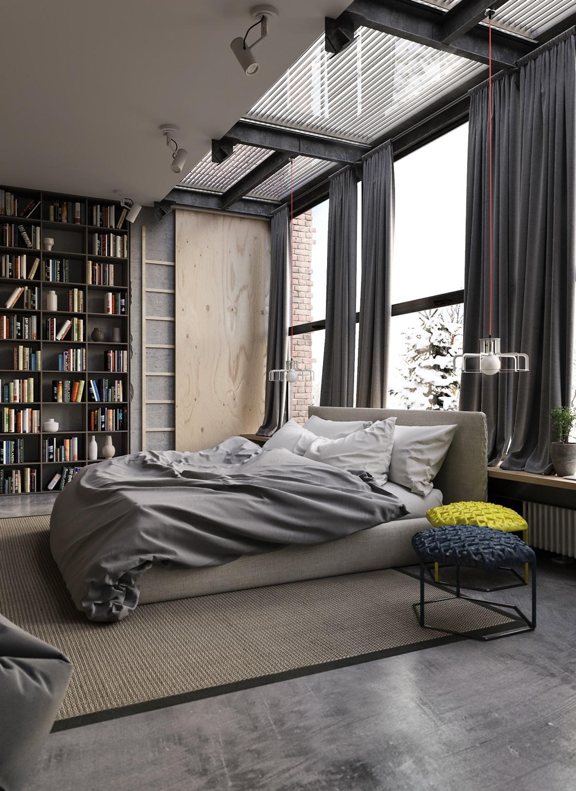 gray-industrial-bedroom-decor
