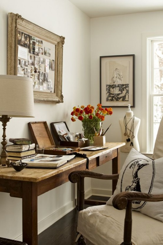 23 best farmhouse home office design ideas for Chic office ideas
