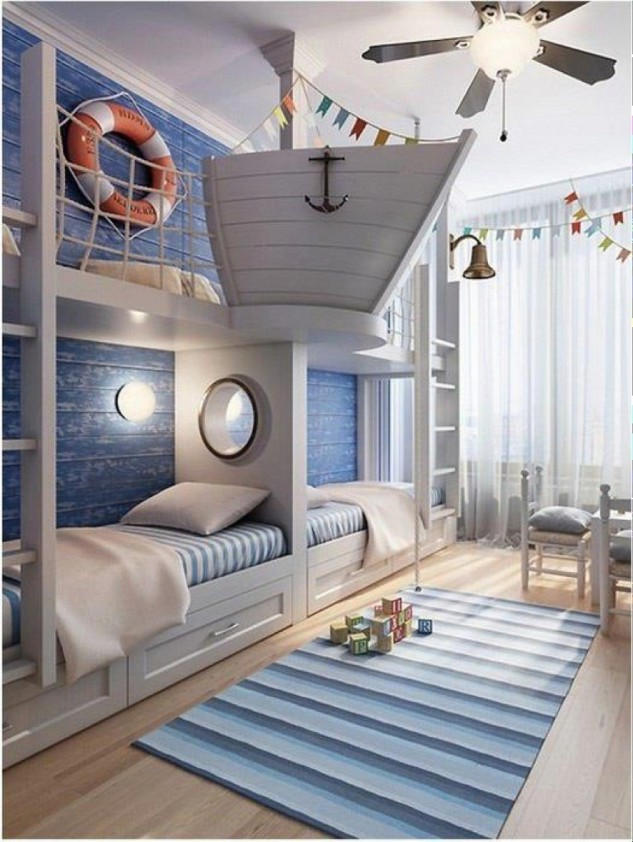 Beach Inspired Kids Bedroom