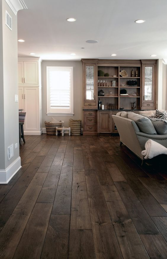 dark color scheme with wooden flooring