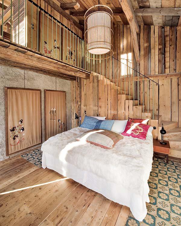 Cozy Chalet Bedroom Interior