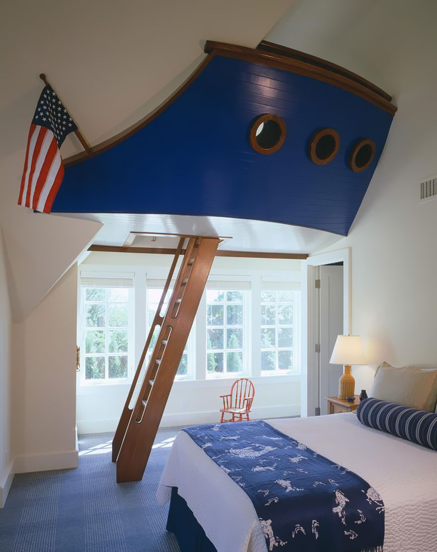 Creative Ship Theme Kids Bedroom