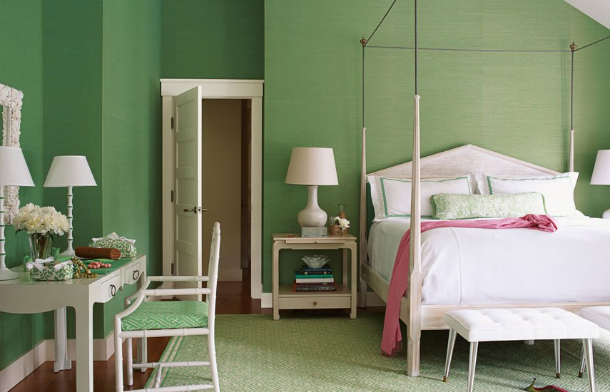 Most popular bedroom paint color ideas Master bedroom with green walls