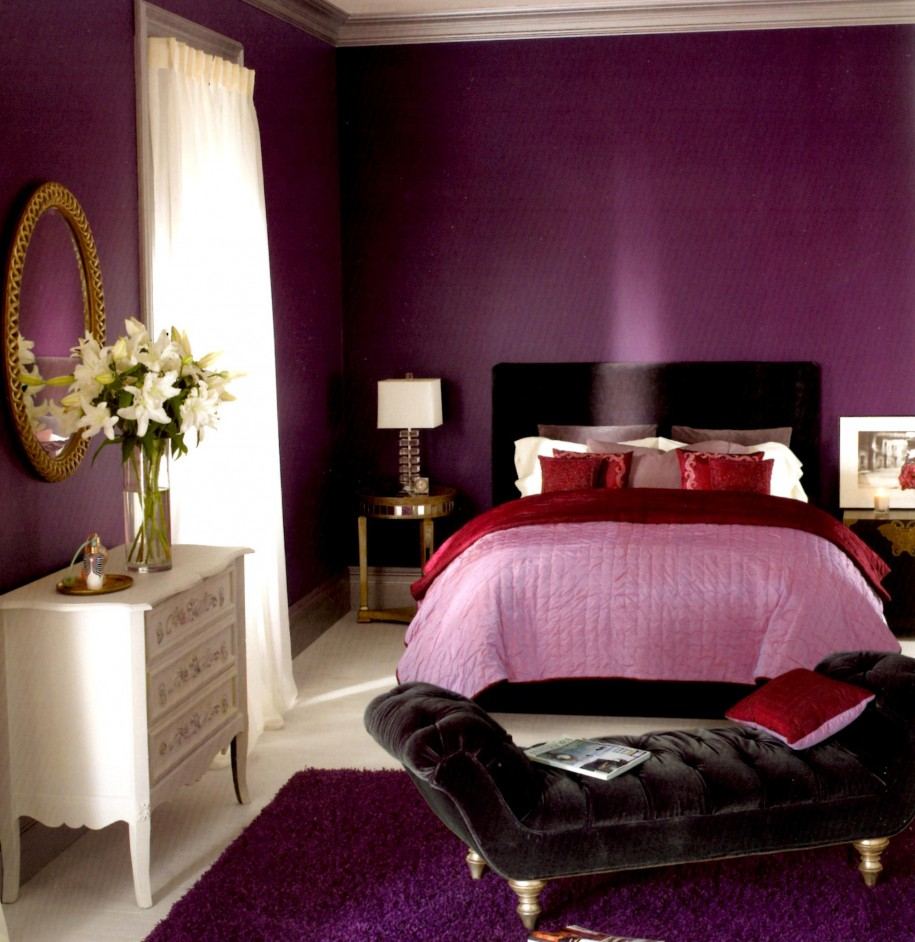 small bedroom with lavender color - Best Bedroom Colors