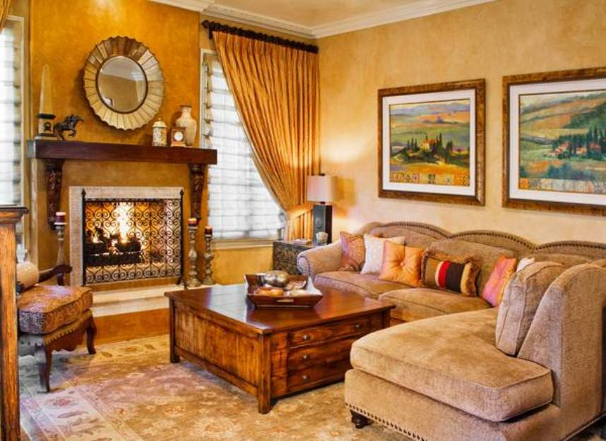 are looking for redecorating your living room in a traditional tuscan