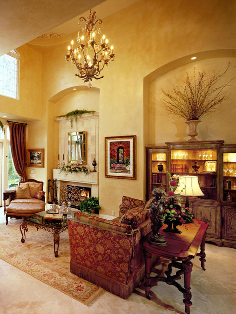 15 awesome tuscan living room ideas for Living room decor ideas