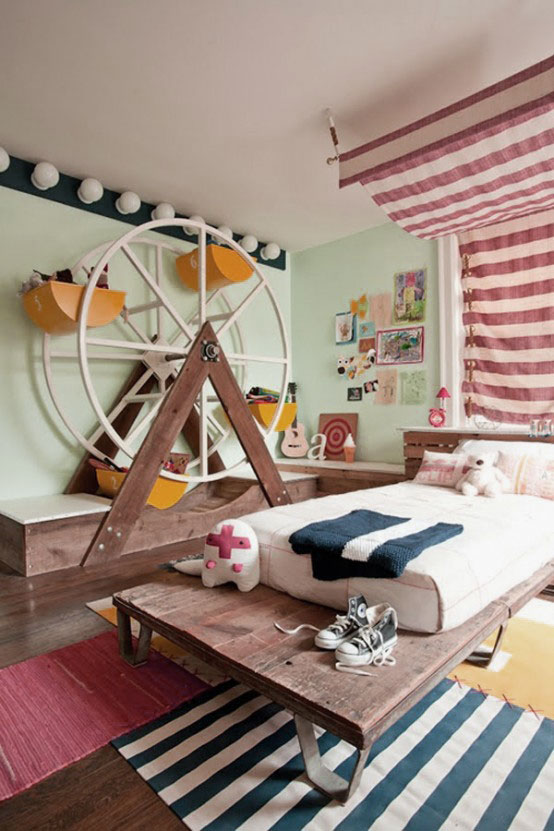 Waterwheel Storage Shaped Kids Bedroom