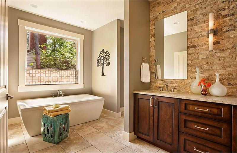 larger Relaxing Transitional Bathroom