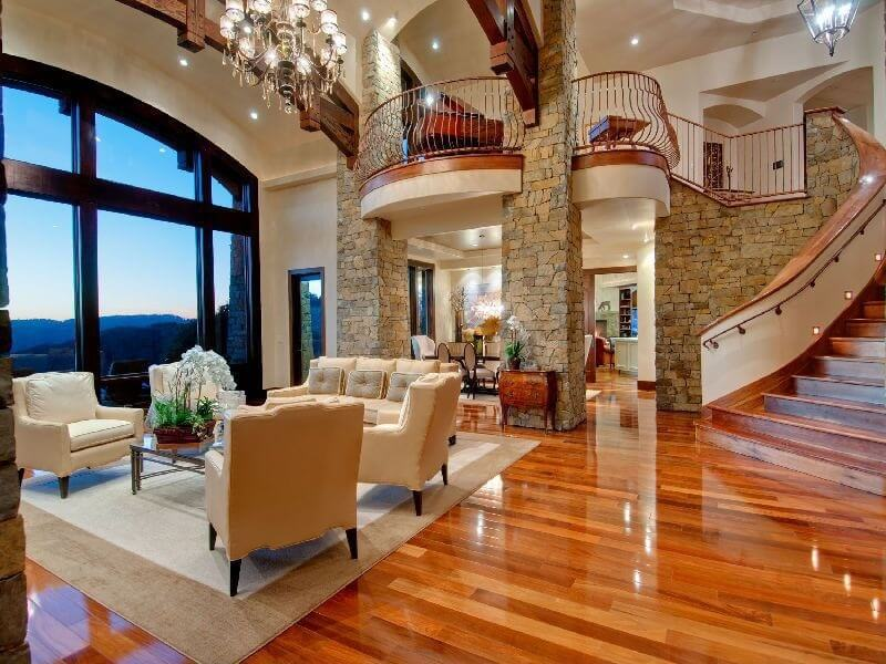 20 amazing living room hardwood floors Two story living room decorating ideas