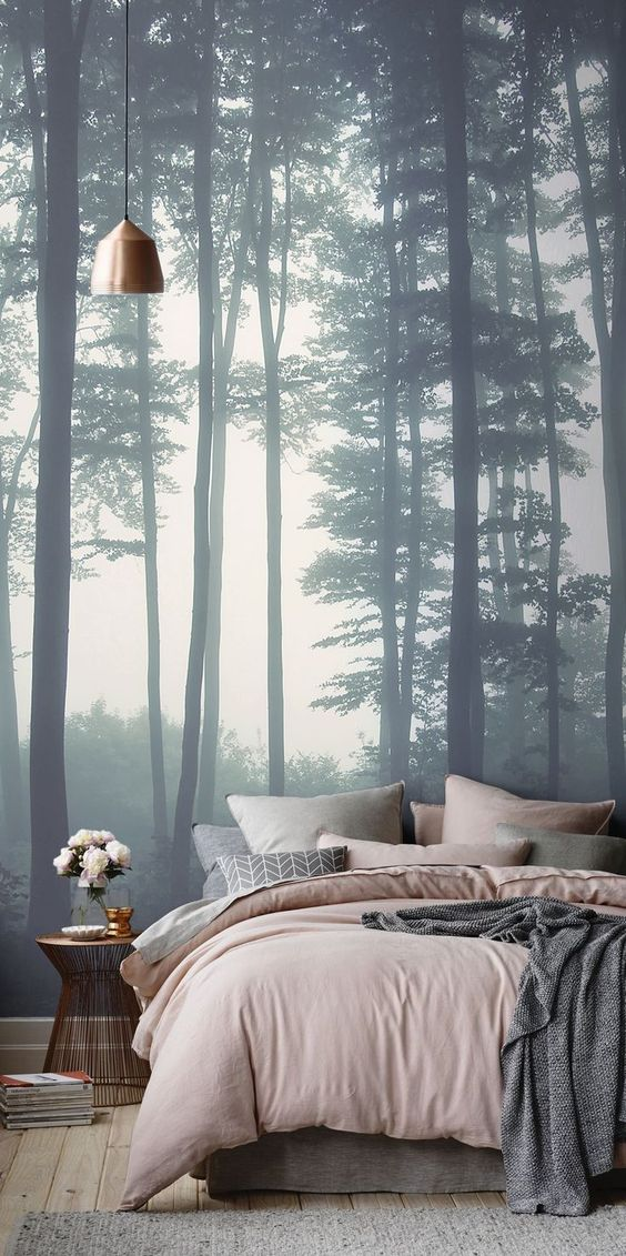 20 stunning bedroom wallpaper design ideas for Stunning bedroom wallpaper