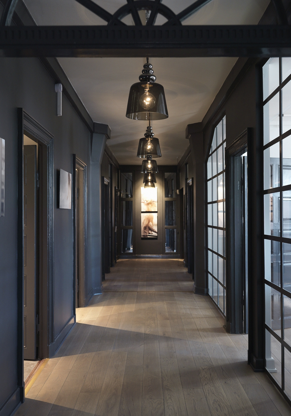 Black Hallway Design Ideas