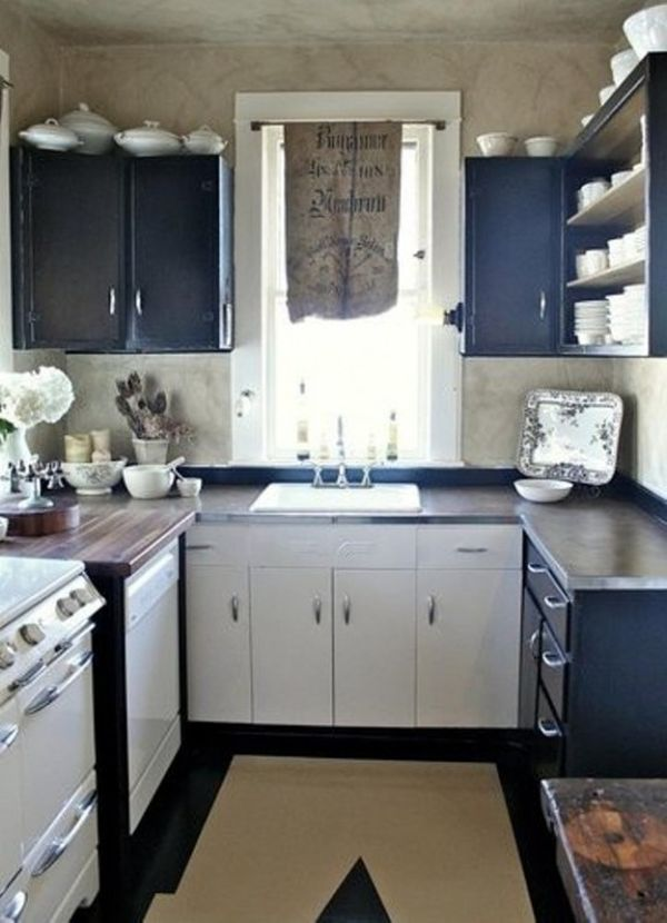 31 creative small kitchen design ideas. Black Bedroom Furniture Sets. Home Design Ideas