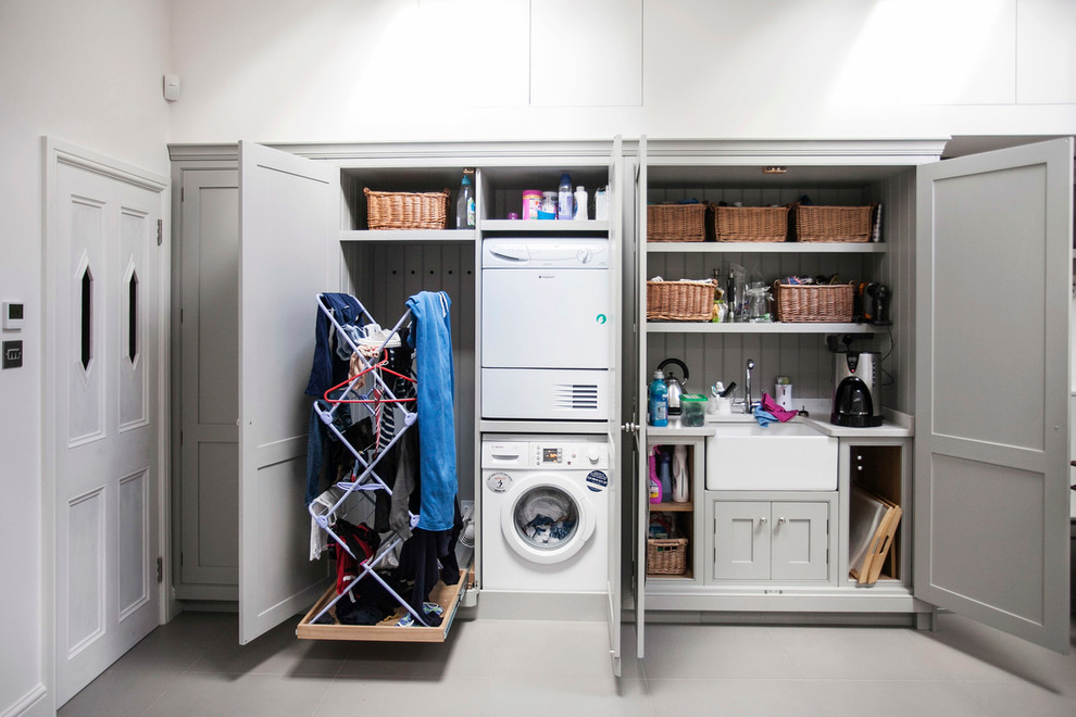 Custom Built In Laundry Room