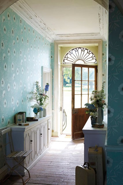 Floral hallway design