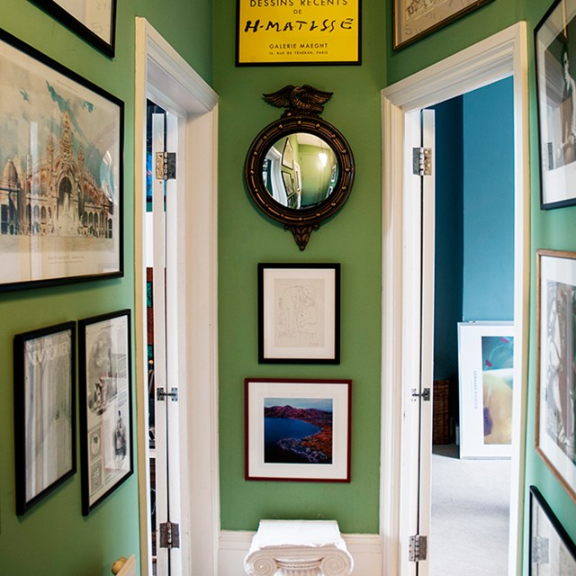 Fresh Green hallway design
