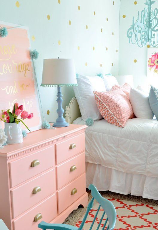 Girls Pastel Bedroom