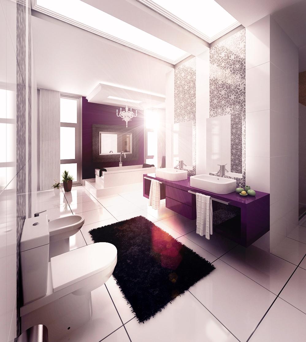 Сиреневая ванна с какими цветами сочетается фото