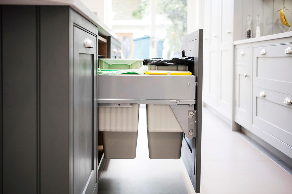 Hidden Waste And Recycling Under Countertop