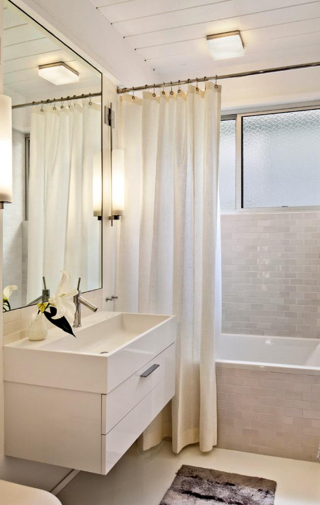 Inspiring White Scheme Bathroom
