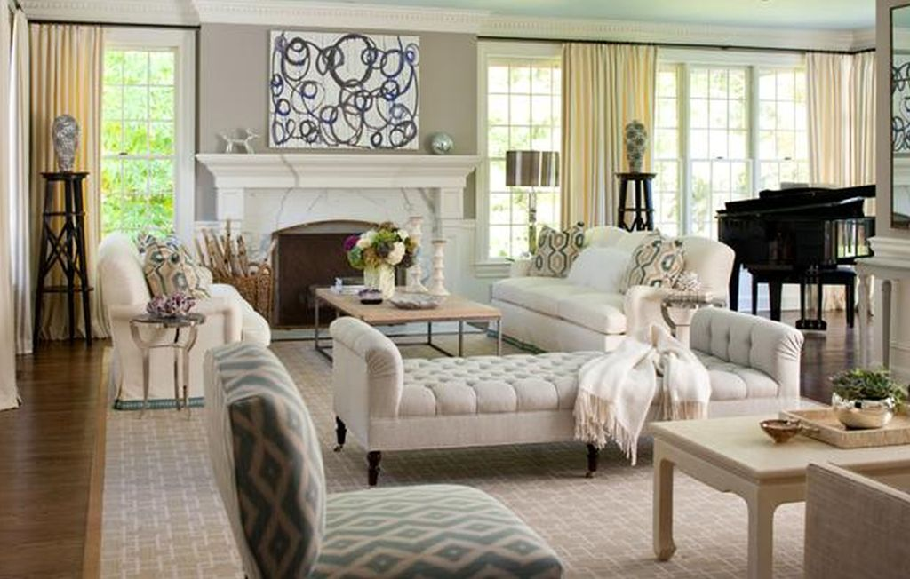 21 impressing living room furniture arrangement ideas for Family room couch ideas