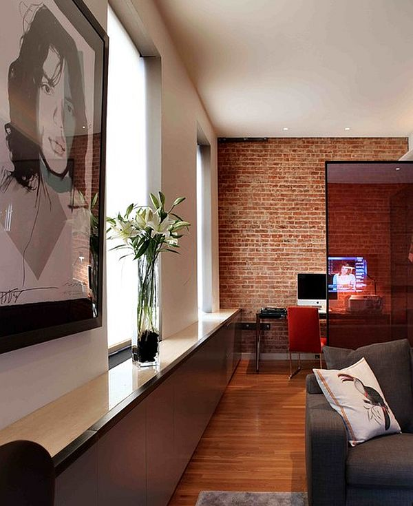 Living Room With Exposed Brick Wall (19)
