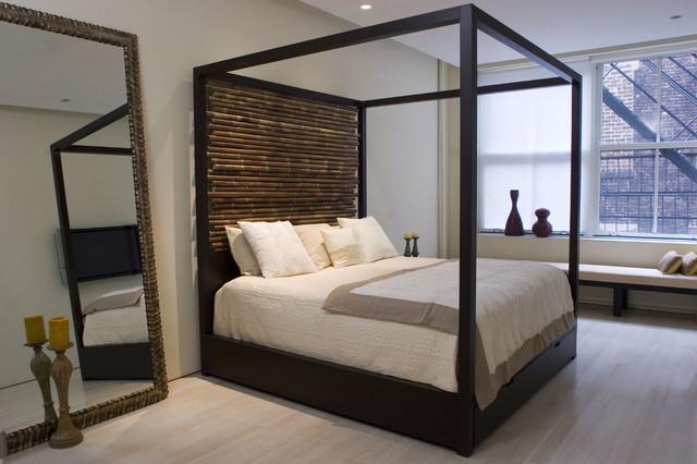 Modern Canopy Bed Headboard