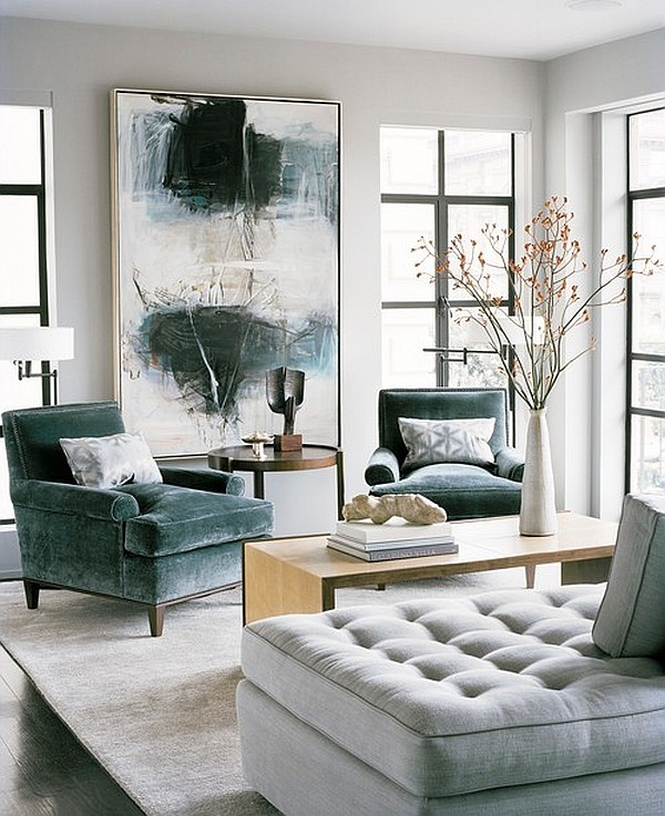 Modern Living Room With Abstract Artwork