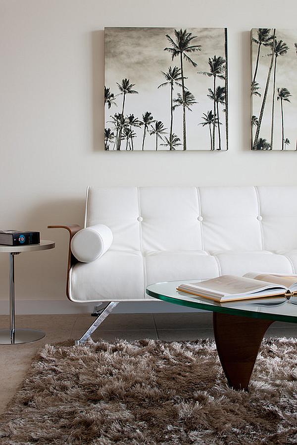 Modern Living Room With Beach Inspired Artwork