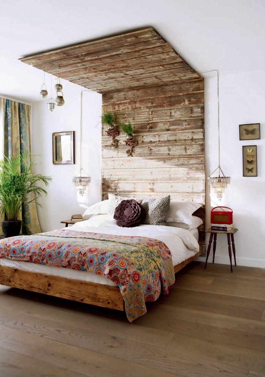 Modern Rustic Bedroom Headboard