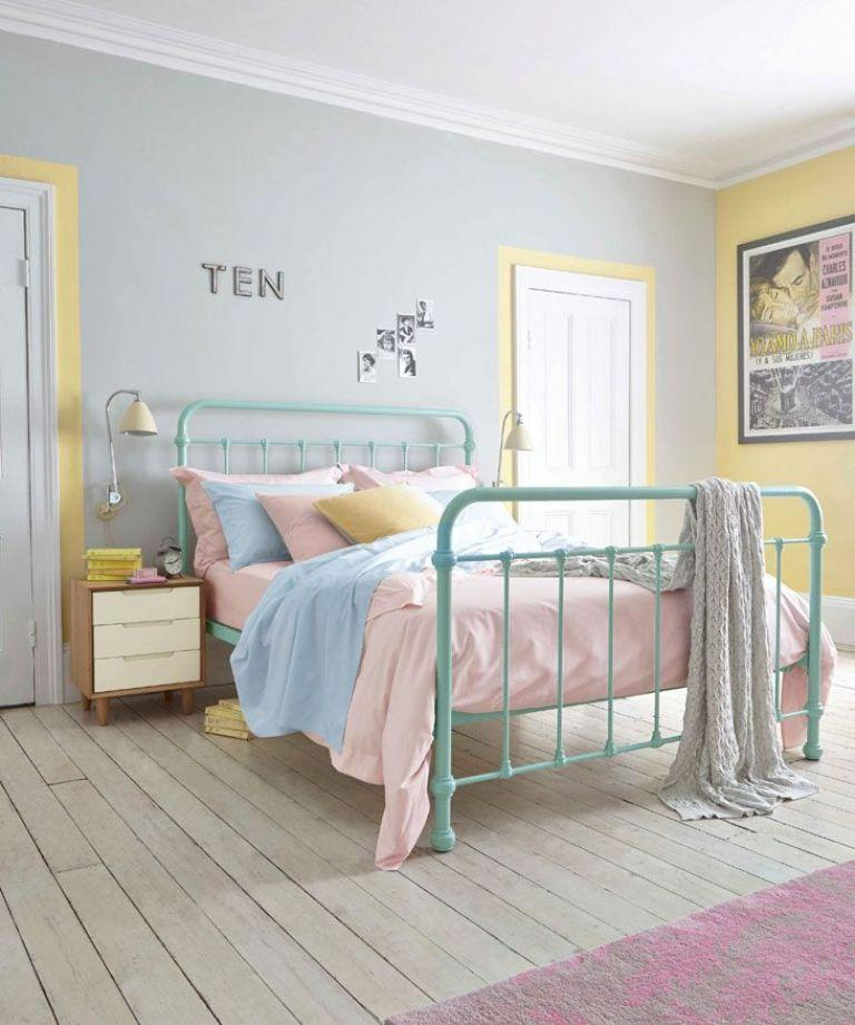 Retro Pastel Bedroom