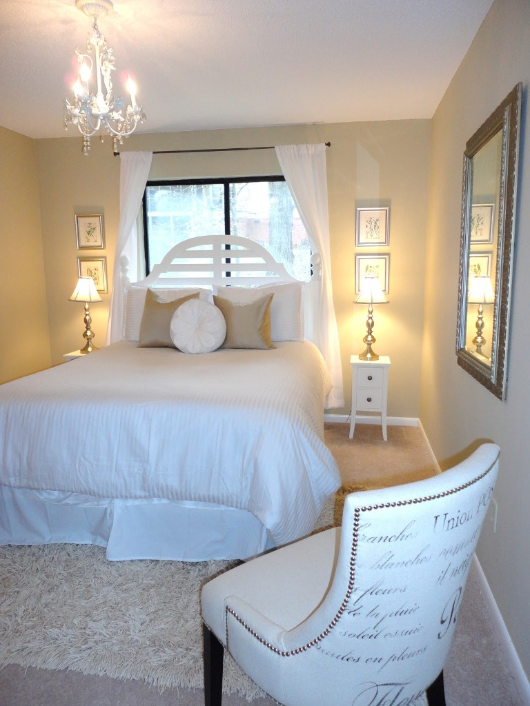 Shabby Chic All white BEdroom