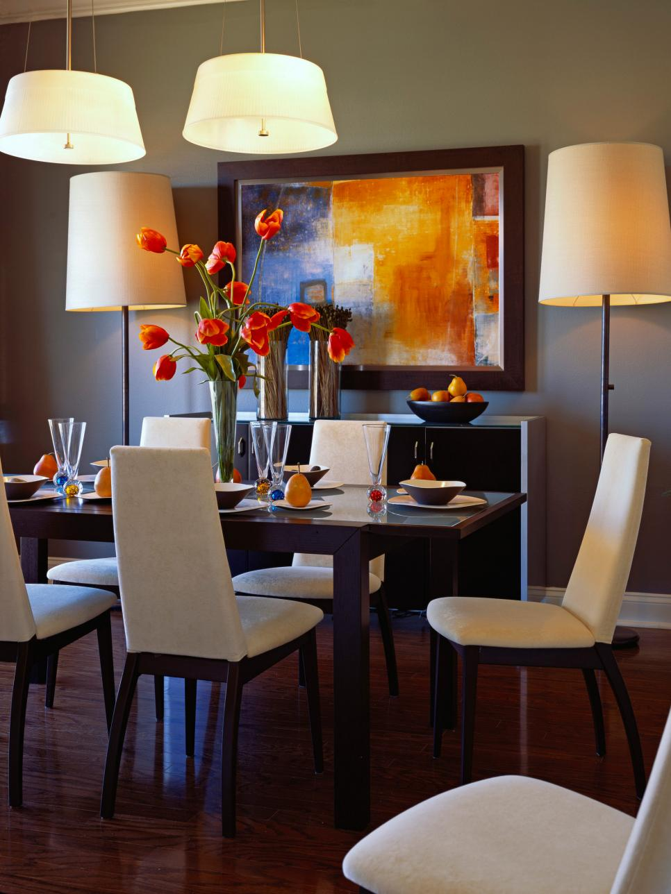 Elegant Stunning Colorful Dining Room Design Ideas With