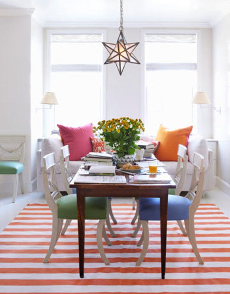 28 stunning colorful dining room design ideas for Decorating contemporary dining room