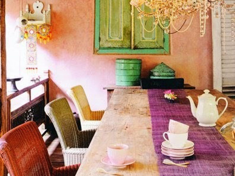 Stunning Colorful Dining Room (27)