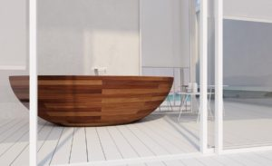25 Amazing Bathrooms With Wooden Bathtub