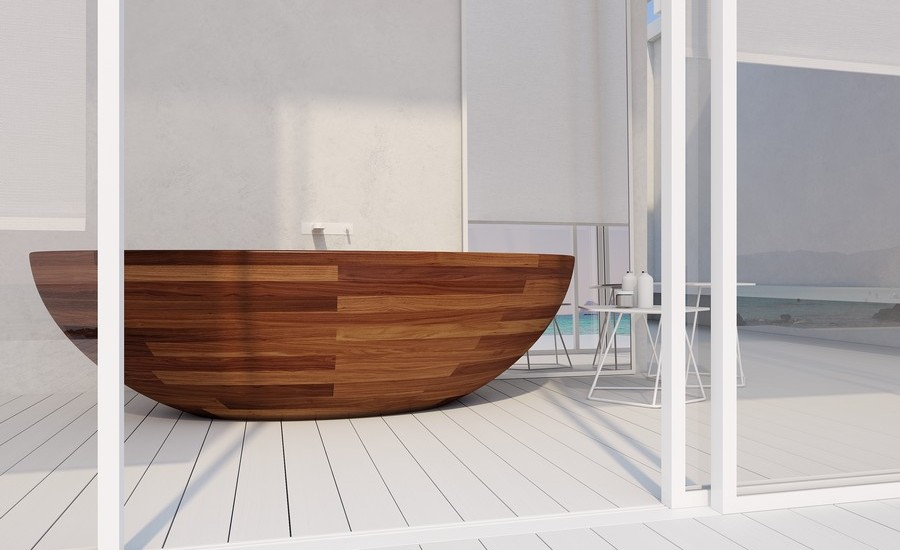 Amazing Bathrooms With Wooden Bathtub (18)