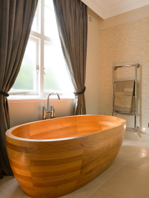 Amazing Bathrooms With Wooden Bathtub (3)