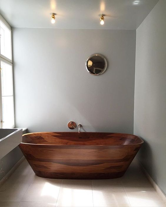 Amazing Bathrooms With Wooden Bathtub (9)